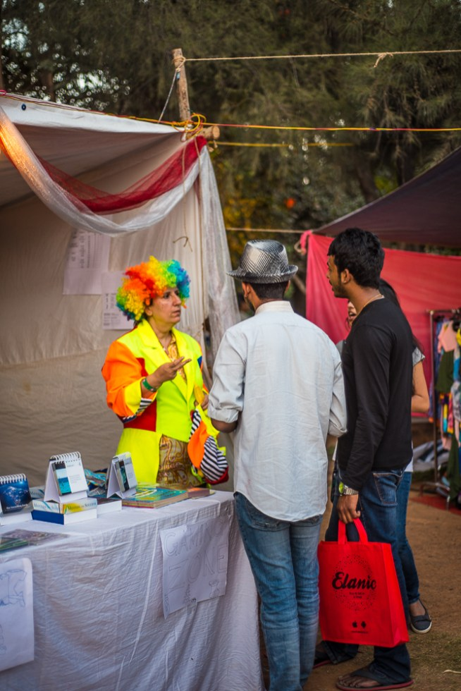 colourful wig at sunday soul sante bengaluru