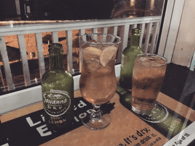 Savanna Cider at the Fork and Train Restaurant Mossel Bay South Africa