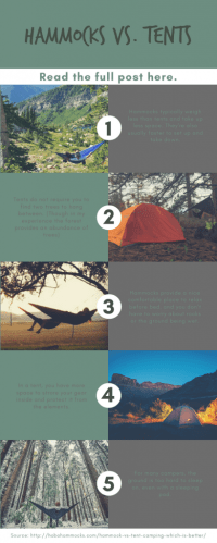 Hammocks vs Tents: Which is right for you?