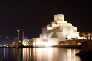 One more shot of Doha from the water a night.