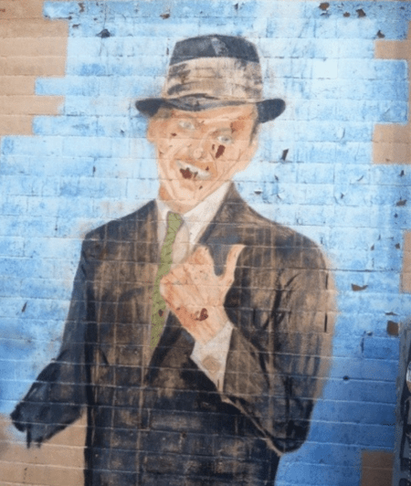 frank sinatra mural celebrating 100 years