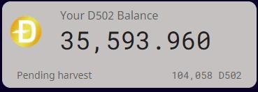 D502ハーベスト枚数