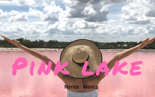 Pink Salt Lake at Merida, Mexico! Hurray!