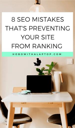 seo mistakes ranking