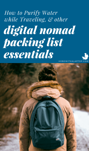 packing list for digital nomads