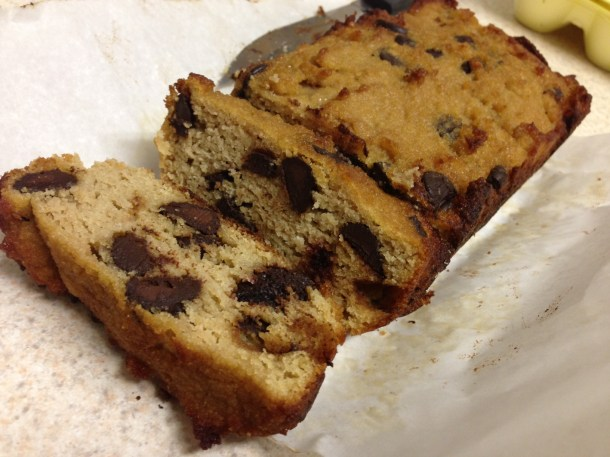 paleo chocolate chip bread