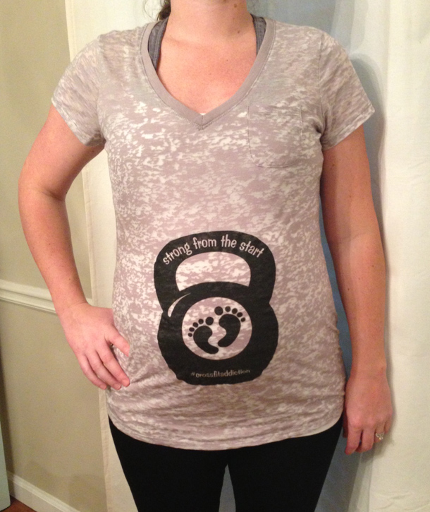 maternity crossfit shirt