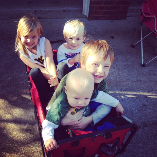 neighborhood wagon ride