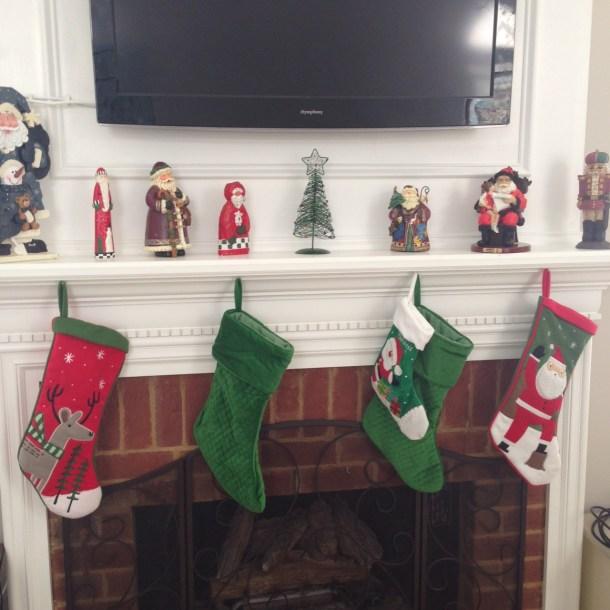 christmas mantle 2014
