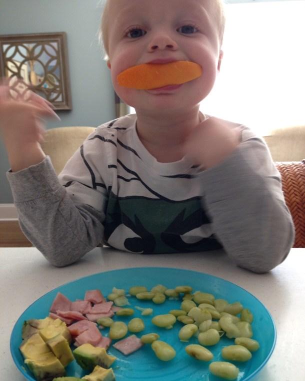 beau orange lunch plate