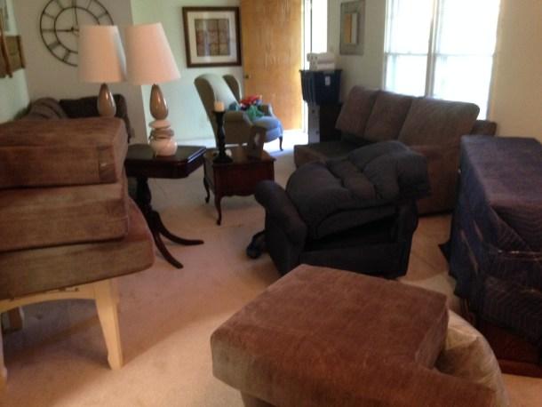 unpacked furniture