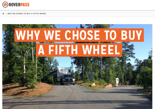 Why We Chose FIfth Wheel RoverPass