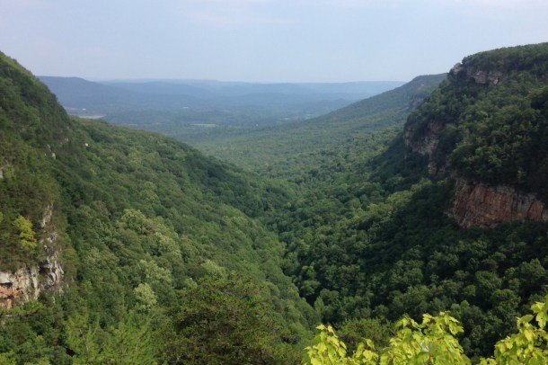 cloudland canyon in august