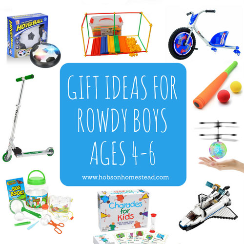 15 Gift Ideas for Rowdy Boys, Ages 4-6