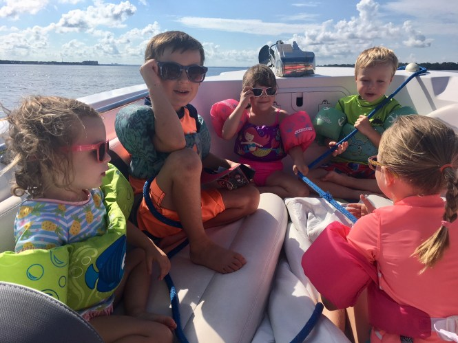water safety tips for parents, puddle jumpers on boat