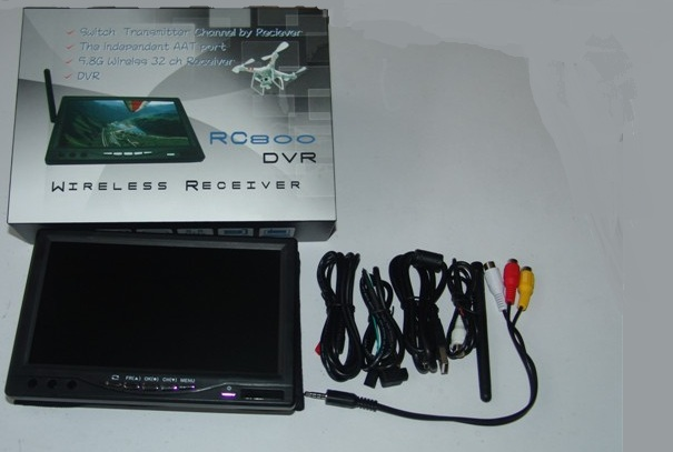 5.8G 32CH Video Receiver & DVR 7