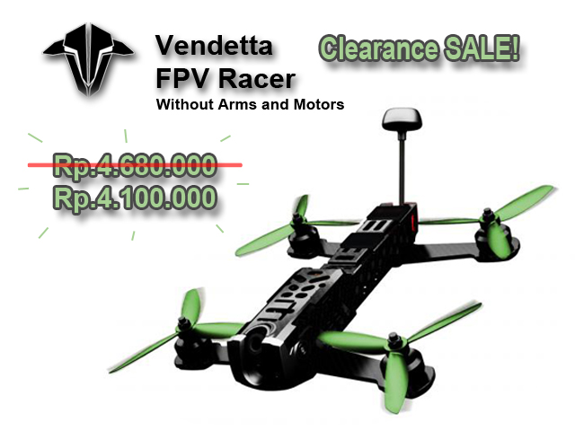 TBS Vendetta FPV Racer without Motor & Arm