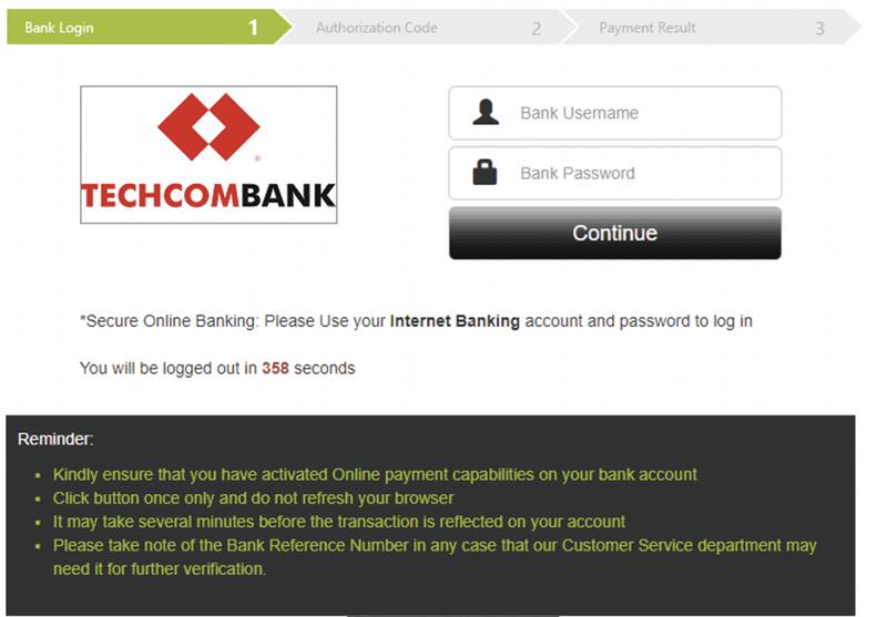 Bước cuối cùng nạp tiền qua Help2pay