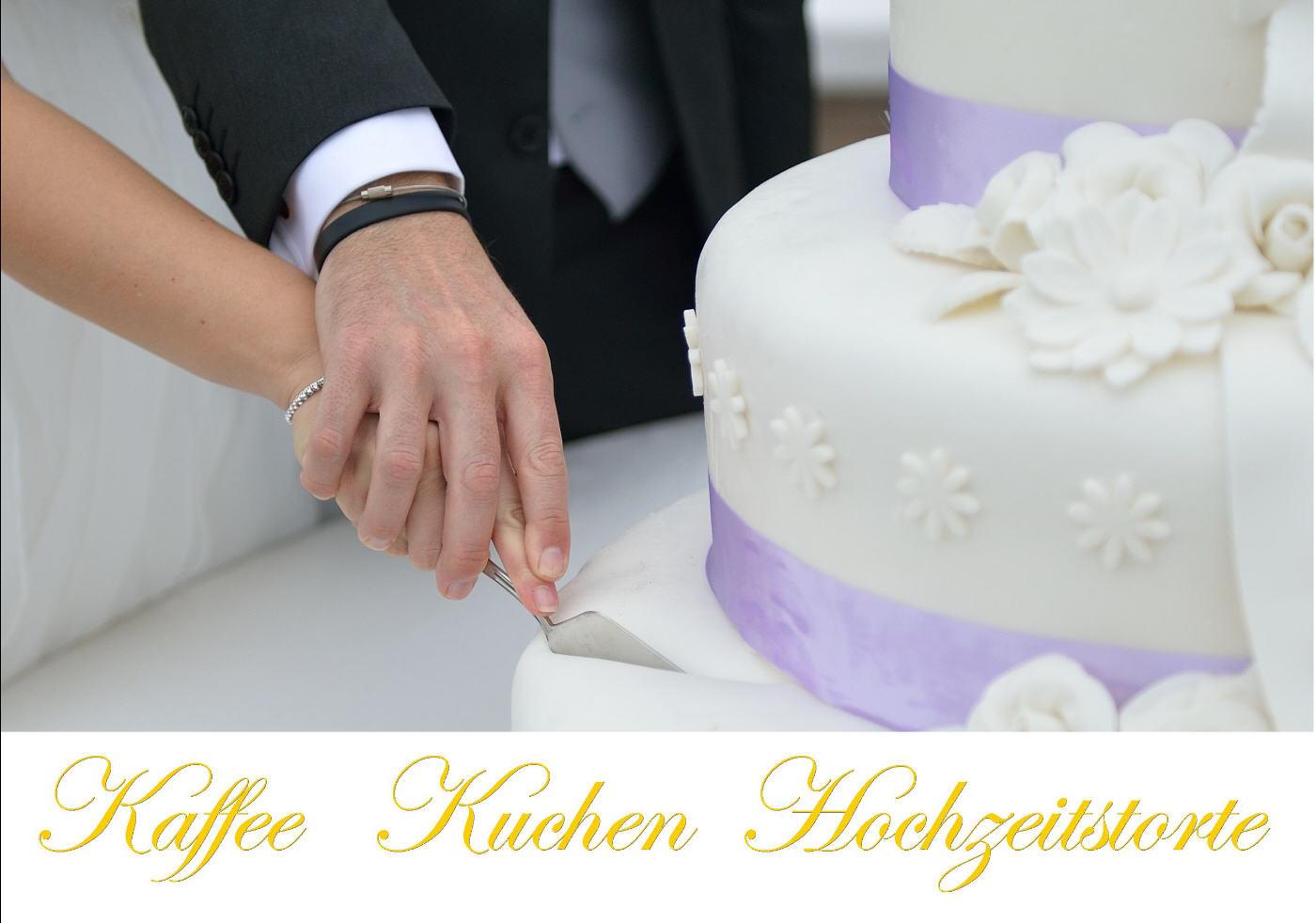Kaffee Kuchen  Hochzeitstorte  Heiraten im Gartenreich
