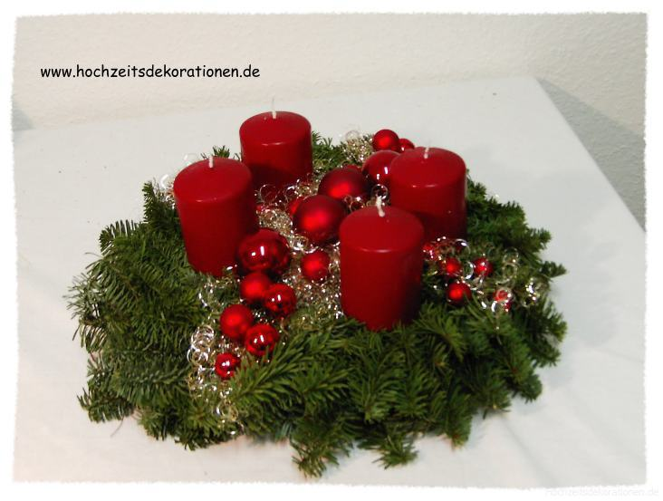 Adventskranz modern bordeaux |