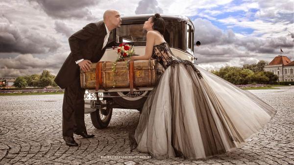 Fotoshooting Hochzeit 03: Luftkuss