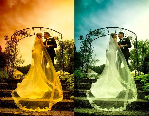 Fotoshooting Hochzeit 24: Hochzeitsfoto mit drammatischem Himmel