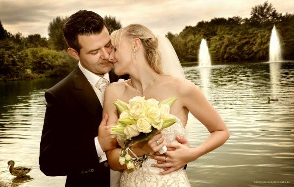 Fotoshooting Hochzeit 02: Hochzeitsporträt im Ostpark