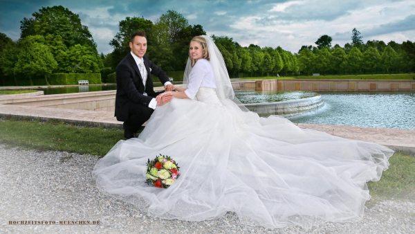 Schloß Oberrschleißheim: Hochzeitsbild