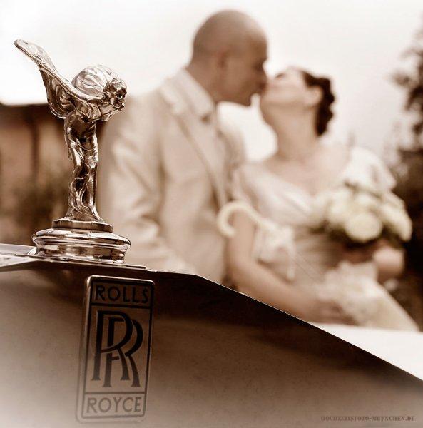 Hochzeit - Fotoshooting mit Rolls Royce