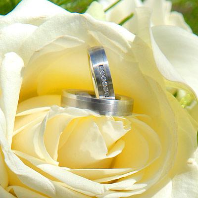 Hochzeitsfotograf Preise - Hochzeitsringe mit Rosen