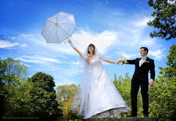 Windiges Hochzeitsshooting im Ostpark