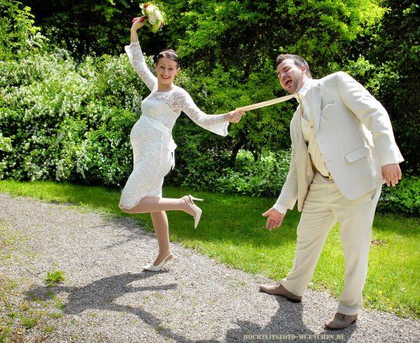Spass beim Hochzeitsshooting