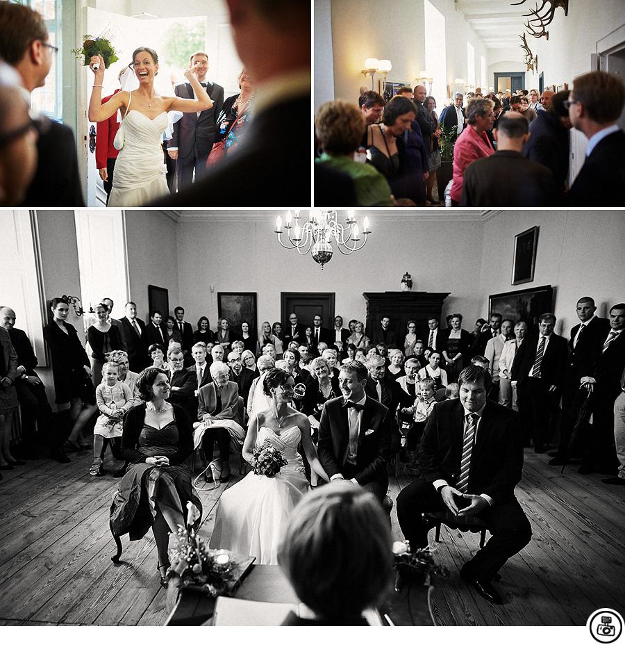 Hochzeit im Schloss vor Husum  Hochzeitsfotograf Hamburg