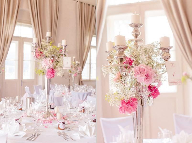 Eine Hochzeit in Rosa und Pink am Wrthersee