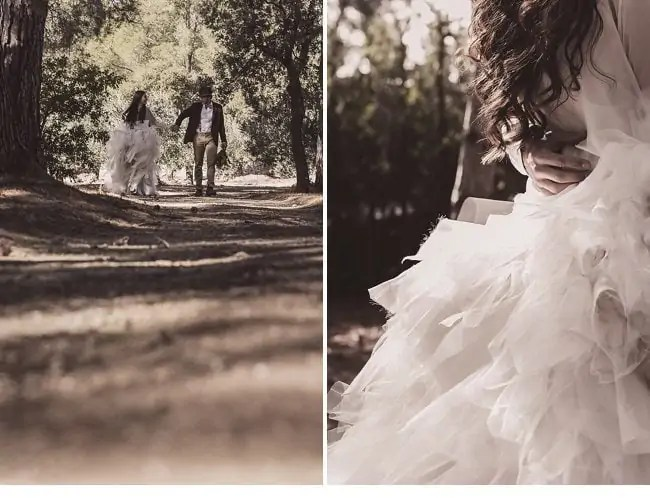 mediterranean forest wedding shoot 0018