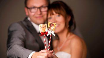 Bedruckte Marshmallows für die Hochzeit