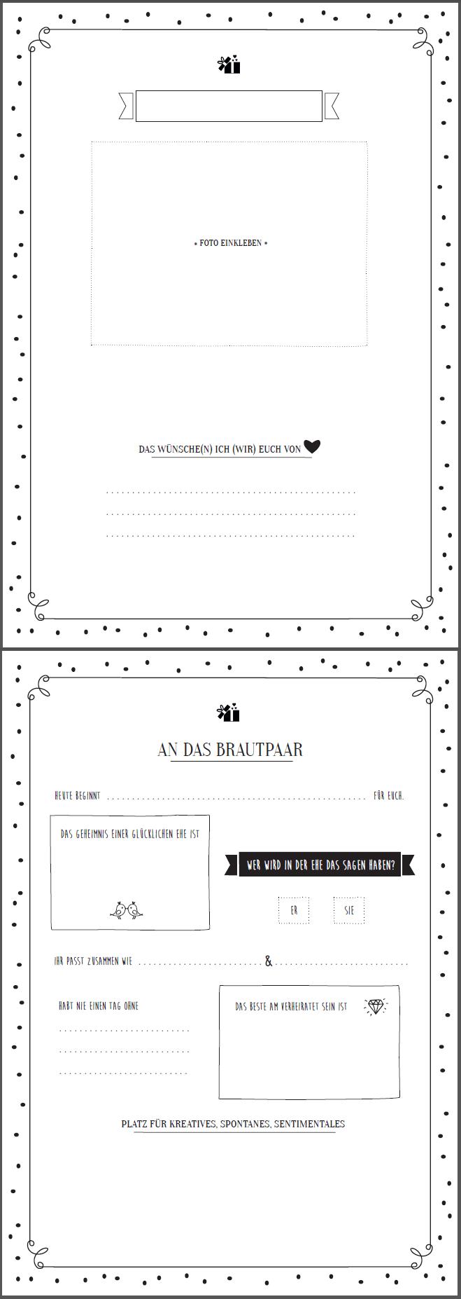 Tolle Gästebuch Vorlage Zum Ausfüllen Gratis Download