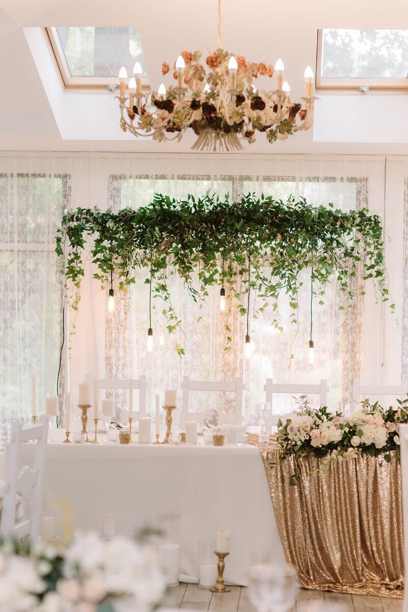 Edle GlamourHochzeit in Gold und Wei  Hochzeitskiste