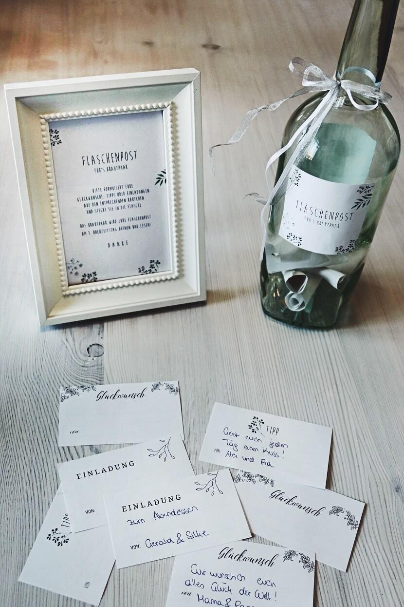 Flaschenpost Hochzeit Hochzeit Gstebuch Alternative DIY Hochzeit  Hochzeitskiste