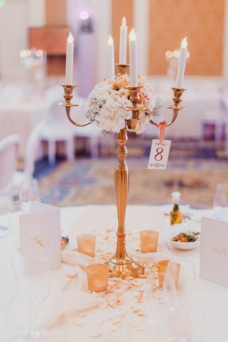 Tischdeko runde Tische  Hochzeitskiste