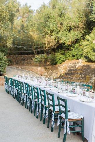 Hochzeitsplanerin heiratet Hochzeit Mallorca Dinner outdoor lange Tafel00002