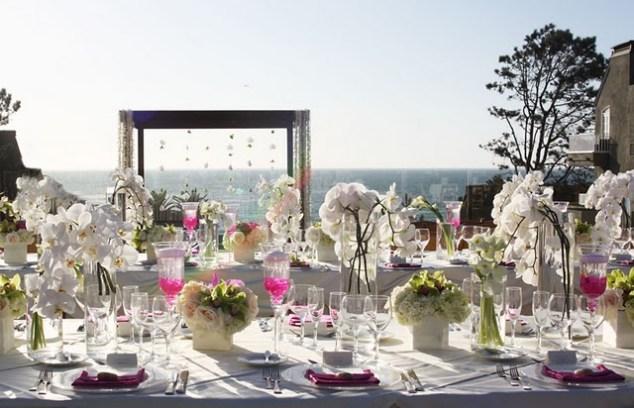 Blumendeko zur Hochzeit Orchideen  FAB events LAB