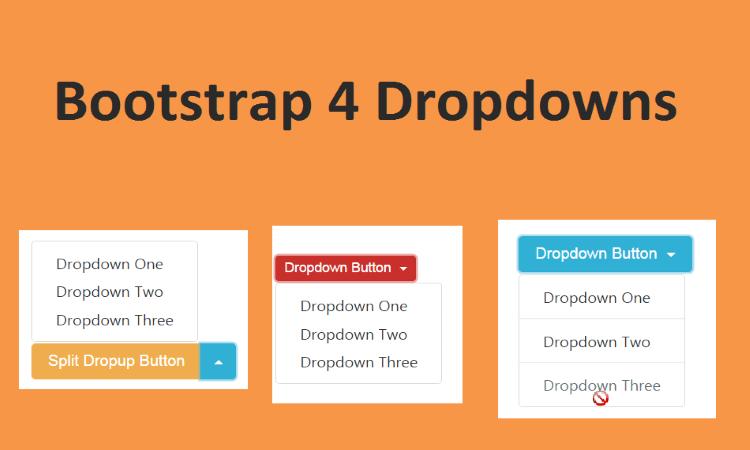 Dropdown trong Boostrap 4