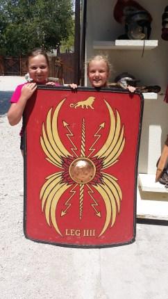 Lilla skölden som romarna använde