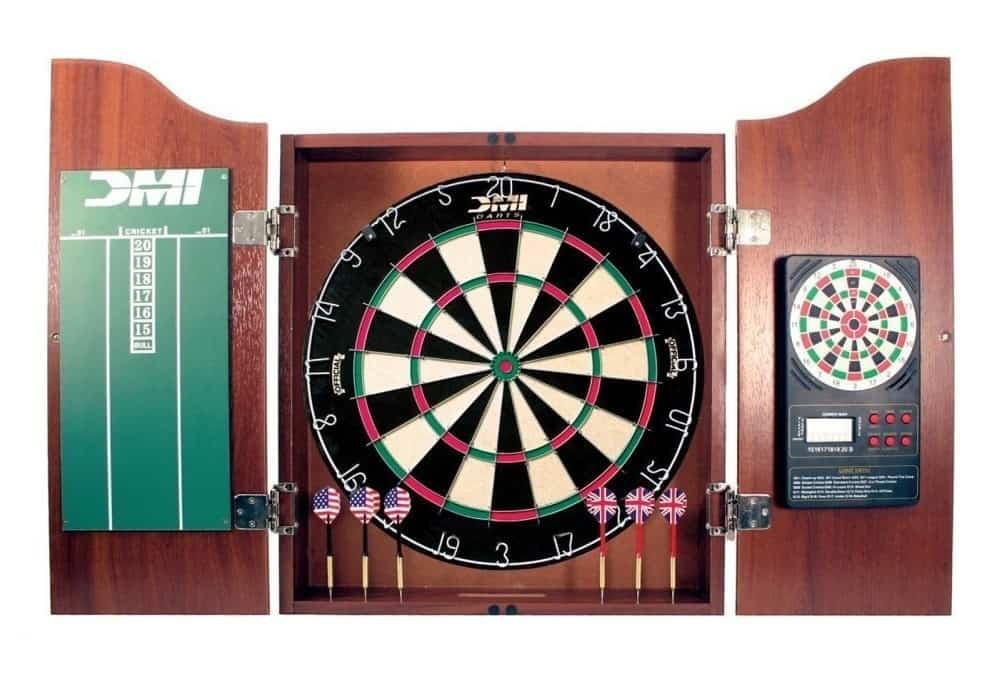 DMI Sports Deluxe Dartboard Cabinet Set