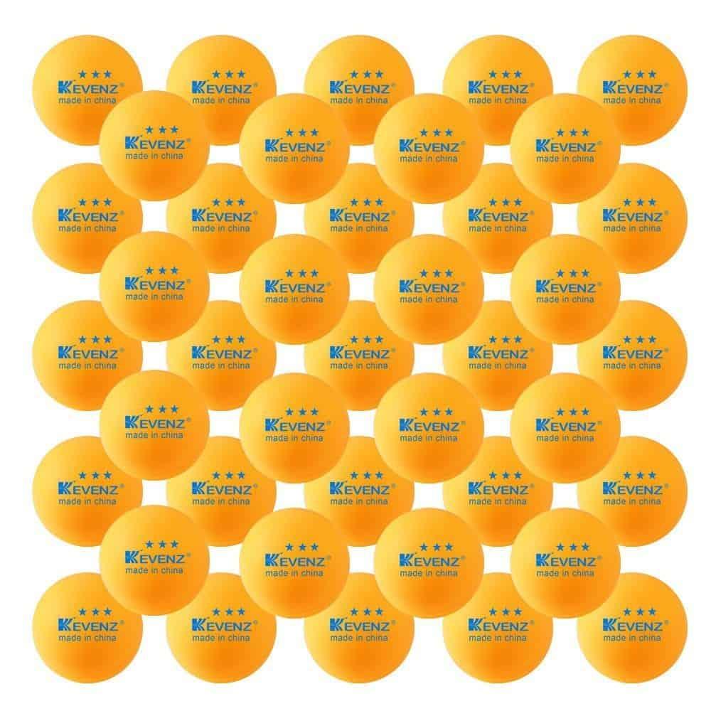 50-Pack-KEVENZ-3-Star-40mm-Orange-Table-Tennis-Ball