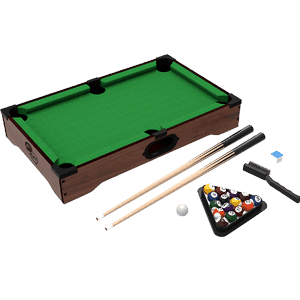 In all, the table can accommodate several accessories at a time. These include table brush, triangle rack, two pool cues, pool stick chalk, and pool balls. It can consequently carry out several tasks and purposes as the result of this.