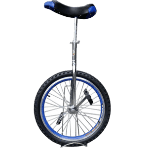Fantasycart-Unicycle-20-In-&-Out-Door-Chrome-colored