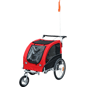 Aosom-Elite-II-Pet-Dog-Bike-Bicycle-Trailer-Stroller-Jogger