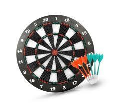 ActionDart Soft Tip Darts and Dart Board Set